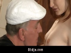 horny oldmen bangs hard youthful strumpets in