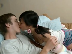slutty adorable legal age teenager copulates with