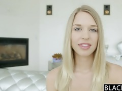 blacked flawless blonde cutie squirts on big