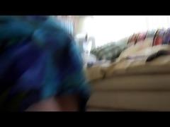 spank-blue dress-pink butt.